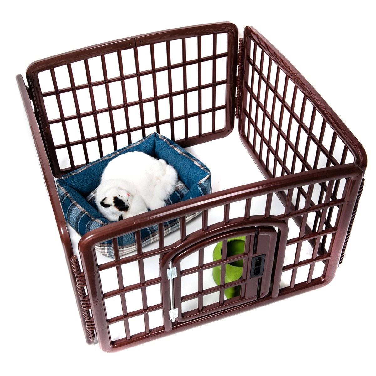 Outdoor Indoor 4-Panel Plastic Exercise Safe Pet Pen
