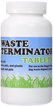 Doggie Doolies Waste Terminator Tablets for Your Dog Poop Compost