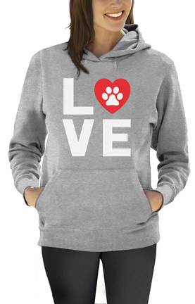 Dog Lover Paw Print - Love Dogs My Best Friend Women Hoodie
