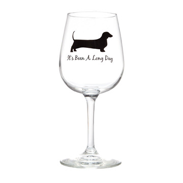 dachshund wine glass
