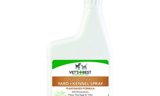 Vet's Best Pet Flea and Tick Yard and Kennel Spray 32oz White 4.75″ x 2″ x 11.25″