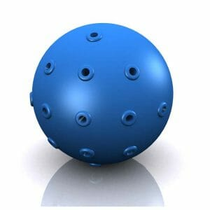 Hugs Pet Products Hydro Dog Ball Toy Blue 2″ x 2″ x 2″