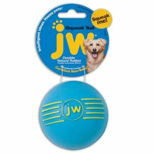 Petmate JW Isqueak Ball Dog Toy Medium Assorted 2.75″ x 2.75″ x 5″